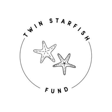 Twin Starfish Black and White Logo